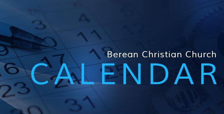 Berean Christian Church Calendar