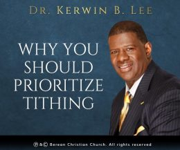 Why You Should Prioritize Tithing